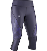 Salomon Intensity 3/4 Tight W Damen Sporthose 3/4, Grey