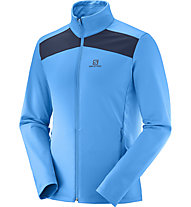 Salomon Layer Discovery - giacca in pile - uomo, Light Blue