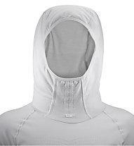 Salomon Lightning Pro LS Hoodie W - Runningshirt mit Kapuze - Damen, White