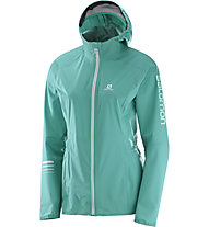 Salomon Lightning Pro WP W - Laufjacke - Damen, Green