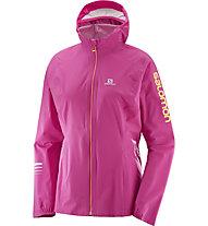Salomon Lightning Pro WP Jkt W - giacca running - donna, Pink