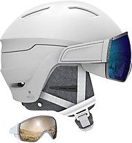 Salomon Mirage Ca - casco sci - donna, White/Blue