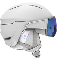 Salomon Mirage S - casco sci - donna, White/Blue