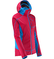 Salomon Mont Baron Hoodie Damen, Lotus Pink/Methyl Blue