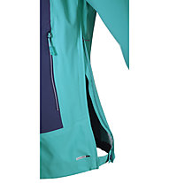 Salomon La Cote Stretch 2.5L Giacca con cappuccio hardshell donna, Teal Blue/Nightshade Grey