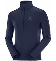 Salomon Outline Half Zip Mid - felpa in pile - uomo, Blue