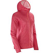 Salomon Right Nice Mid - giacca in pile con cappuccio - donna, Red