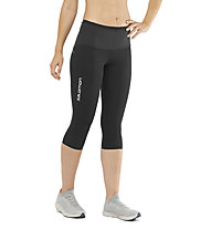 Salomon S/LAB NSO Mid Tight W - pantaloni corti running - donna, Black