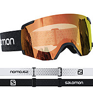 Salomon S/View Photochromic - maschera sci, Black/Red
