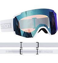 Salomon S/View Photochromic - maschera sci, White/Blue