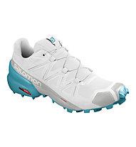salomon women's speedcross 5 gtx trail running shoes blue