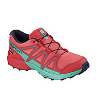 Salomon Speedcross CSWP - scarpa trail running - bambino, Red/Light Blue