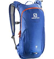 Salomon Trail 10 Trail Running Rucksack, Blue/Orange