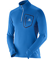 Salomon Trail Runner Warm maglia manica lunga, Blue
