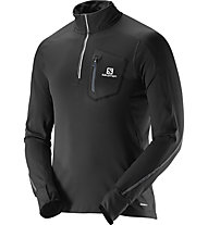 Salomon Trail Runner Warm LS ZP Tee M, Black