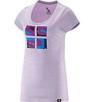 Salomon Warhol Cotton T-Shirt Damen, Pink