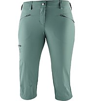 Salomon Wayfarer Capri - pantaloni corti trekking - donna, Green