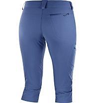 Salomon Wayfarer - pantaloni 3/4 trekking - donna, Blue