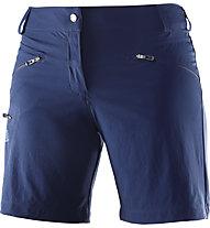 Salomon Wayfarer Short Damen Wander- und Trekkinghose kurz, Blue