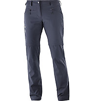 Salomon Wayfarer Zip - pantaloni escursionismo zip-off - donna, Grey