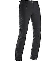 Salomon Wayfarer pantaloni zip-off donna, Black