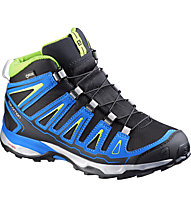 Salomon X-Ultra Mid GORE-TEX Junior, Black/Union Blue/Granny Green