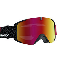 Salomon X-View - maschera sci, Black/Red