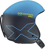 Salomon X Race Slab - Casco da sci, Blue/Black Mat