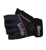 Santini SMS Schwarze Handschuhe Giro d'Italia, Black
