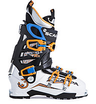 Scarpa Maestrale RS - Skitourenschuh, White/Orange/Royal Blue