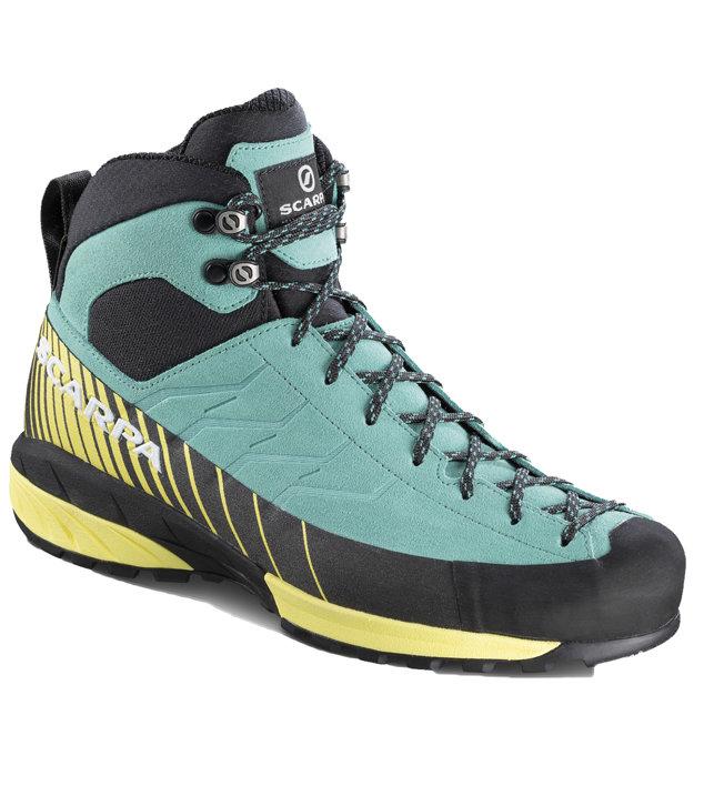 Scarpa Mescalito Mid GTX W - scarpe da avvicinamento - donna, Light Blue/Yellow