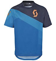 Scott Progressive Downhill Shirt Maglia MTB, Empire Blue/Blue Nights