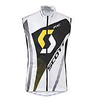 Scott RC Pro Windbreaker Vest - Gilet Ciclismo, White/Yellow rc