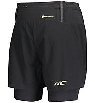 Scott Rc Run Hybrid - pantaloni corti trail running - uomo, Black/Yellow