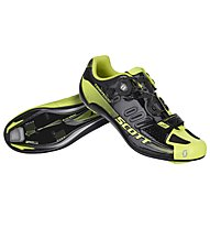 Scott Scarpe bici da corsa Road Team Boa Shoe, Black/Neon Yellow