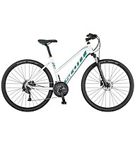 Scott Sub Cross 30 Lady Damen-Trekkingrad, White/Turquois