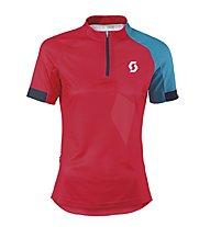 Scott Trail 20 S/SL Women`s Shirt, Hibiscus Red/Ocean Blue