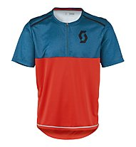 Scott Trail Flow Mel Q-Zip S/SL Mountainbike-Trikot, Blue/Red