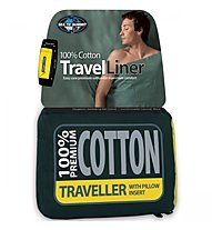 Sea to Summit Cotton Liner 100% Premium Traveller - saccoletto in cotone, Blue