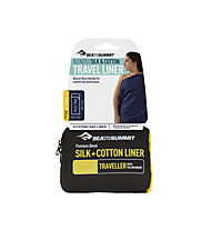 Sea to Summit Silk + Cotton Liner Traveller - saccoletto seta e cotone, Blue