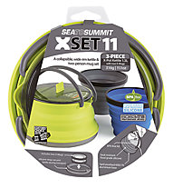 Sea to Summit X-Set 11 - set stoviglie, Grey/Blue/Lime