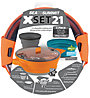 Sea to Summit X-Set 21- set stoviglie, Orange/Pacific Blue/Grey