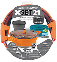 Sea to Summit X Set 21 - Koch - und Essensset, Orange/Pacific Blue/Grey