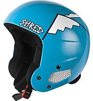 Shred Brain Bucket Whyweshred Blue, Blue/White