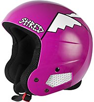 Shred Brain Bucket Whyweshred Pink - Helm, White/Pink