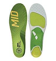 Sidas RUN 3feet Sense Mid - soletta running, Green/Grey