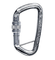 Singing Rock D Carabiner Screw Lock with Bar, Polished