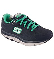 Skechers Shape Ups Liv donna, Navy/Green