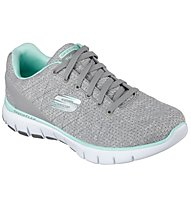 Skechers Skech Flex West End - scarpa ginnastica donna, Gray/Mint