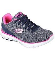 Skechers Skech Flex West End - scarpa ginnastica donna, Navy/Hot Pink